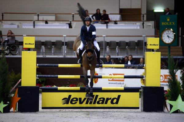 Sports Equestres 08/12/2017 CHI Geneve 2017  FARRINGTON Kent (USA) riding Gazelle during the CHI of Geneva 2017