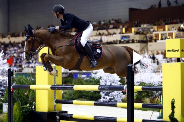 Sports Equestres 09/12/2017 CHI Geneve 2017  Top Ten Final  STAUT Kevin (FRA) riding Reveur de Hurtebise HDC during the CHI of Geneva 2017